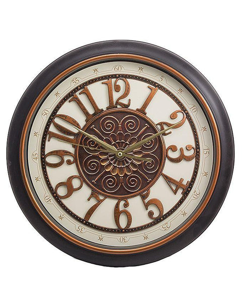 "Fancy Wall Clock - 16X16"" - Black Tajori"