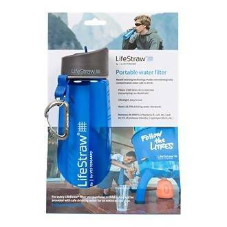 Go Filter Bottle with 2-Stage Filtration with Integrated Filter Straw Removes Bacteria Ideal for Hiking, Backpacking, Camping, Travel, Outdoor Sports and Emergency Preparedness Tajori