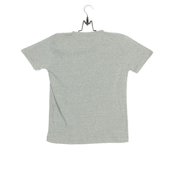 Grey Marl Cotton Basic T-Shirt for Boys - NST2-24 Tajori
