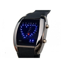Heart Shape LEd Watch Tajori