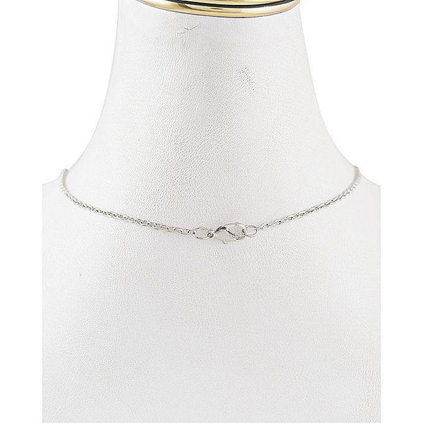 Hollow Diamond - Light Necklace for Women - Silver Tajori