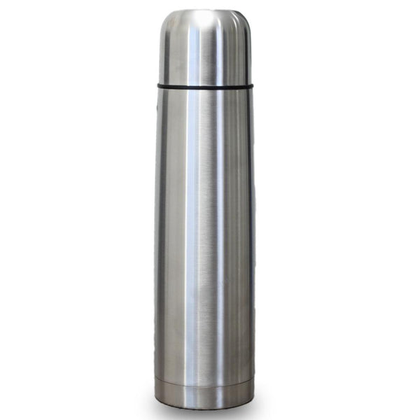 Hot And Cold Stainless Steel Vacuum Flask Water Bottle - Silver ( 1 Litre) Tajori