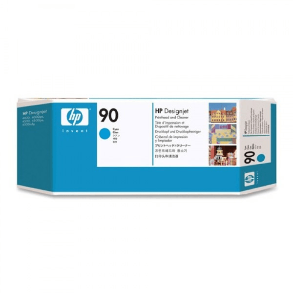 HP PRINT HEAD 90 C5055A CYAN FOR PRINTER Tajori