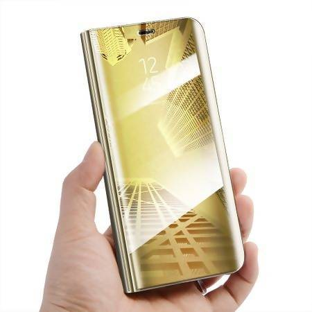 new products ab83f 18c02 Huawei Mate 10 Lite Clear View Standing Cover - Gold