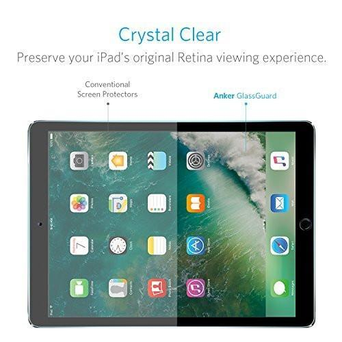 iPad Pro 10.5 in Screen Protector, Anker [Double Defense] Premium Tempered-Glass Tablet Screen Protector with Retina Display [Compatible with Apple Pencil] Tajori
