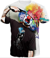 Joker face art graphics half sleeves round neck t-shirt for men Tajori