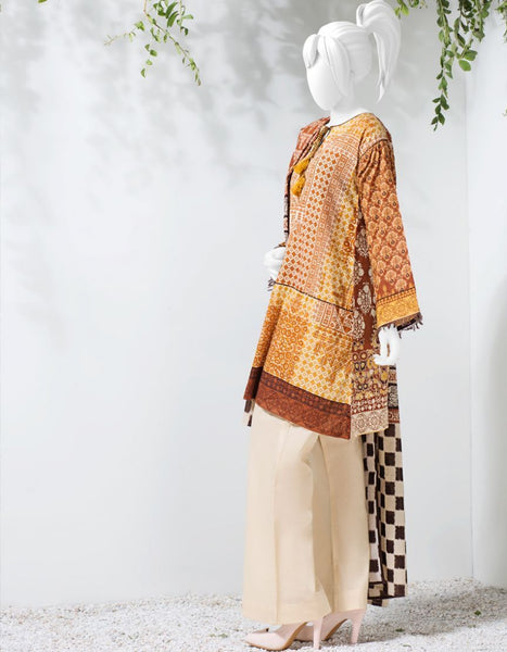 Junaid Jamshed Ladies Stitched Collection JLAWN-S-18-003/B/S Morrokie Tajori