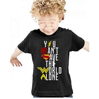 Justice League T-Shirt - Black For Kids Tajori