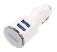 LDNIO DL-C29 2 USB Ports Car Charger With Cable For Smart Phones Tajori
