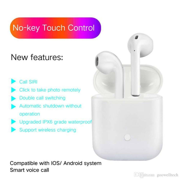 LK-TE8 Touch Sensor Bluetooth 5.0 Earbuds Also Support Wireless Charging For Android & Iphone Tajori