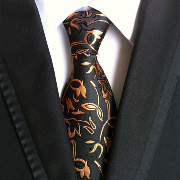 Men's Suits Necktie Polyester Silk Plaid Striped Tie Tajori