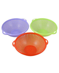 Multi-Colour Perforated Colanders Pack of Three Tajori