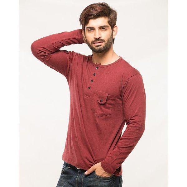 Multicolor Cotton Pack Of 3 Round Neck Buttons Strip T-Shirts For Men Tajori