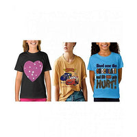 Multicolor-Pack of 3 China Fabric Printed T-shirts for Kids Tajori