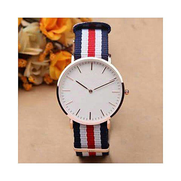 Multicolors Nylon strap watch for men Tajori