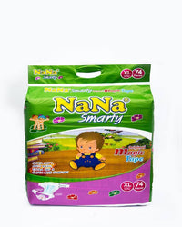 Nana Smarty Baby Diaper - XL (Size 5/Belt/11-25KG/74Pcs) Tajori