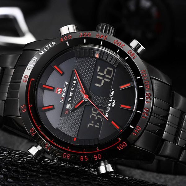 NAVIFORCE High Quality Original Luxury Waterproof LED Sports Watch Tajori