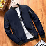 Navy blue bomber style jacket for men Tajori