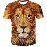 Old king of lion graphical round neck half sleeves t-shirt for men Tajori