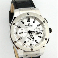 OMAX MENS WATCH IN SILVER DIAL WITH DAY AND DATE Tajori