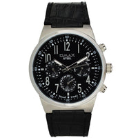 OMAX STAINLESS STEEL MULTI-FUNCTION LEATHER BAND WATCH Tajori