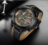 Original Luxury Men's Leather Sports Wrist Watch Tajori