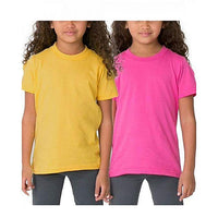 Pack of 2 - Pink And Yellow Kids T-Shirt For Girls Tajori