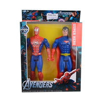 Pack of 2 - Spiderman and Superman Figure Toys 9 Inch Tajori