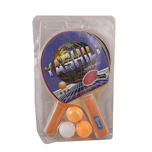 Pack of 2 Table Tennis Rackets With 3 Balls Tajori