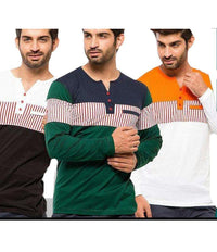 Pack of 3 Chest Strip T-shirts Tajori