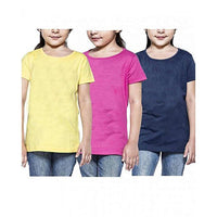 Pack Of 3 Cotton T-Shirt For Girls Tajori