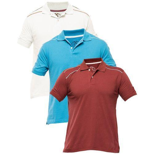 08c98c9a Buy Pack of 3 - Multicolour Cotton Polo Shirt for Men Online at Best ...