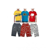 Pack of 6 - Multicolor Cotton Shorts & T-shirts for Kids Tajori