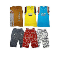 Pack of 6 - Multicolor Sandos & Shorts for Kids Tajori
