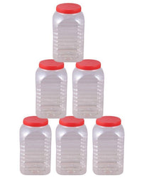 Pack of 6 - Spice Jars & Storage Containers - Red Tajori