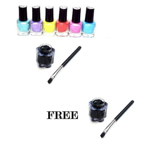 Pack of 8 - Funky Nail Paints & Liners Tajori