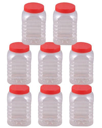 Pack of 8 - Spice Jars & Storage Containers - Red Tajori