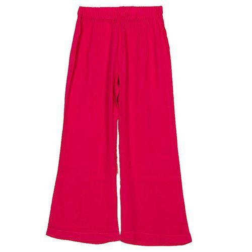 Pink Cotton Palazzo Pants for Girls Tajori