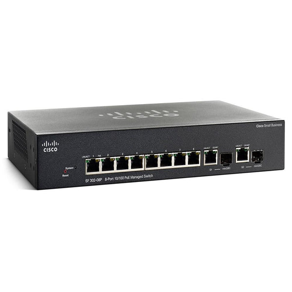 POE SWITCHES Managed POE 10/100 Switches SF302-08PP-K9 Networking Equipment Tajori