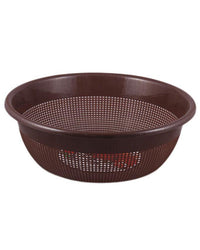 Premium Limon Round Strainer Basket - Brown Tajori
