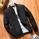 Pure black bomber style jacket for men Tajori