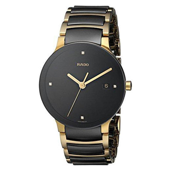 RADO Men's Centrix Jubilee Gold Plated Stainless Steel Bracelet Watch Tajori