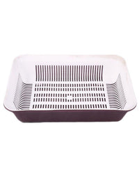 Rectangular Strainer With Tray - Purple Tajori