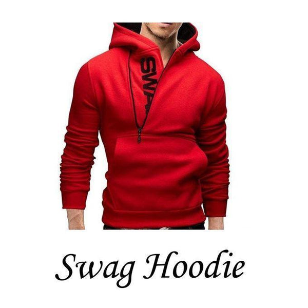 Red Swag Hoodie For Men Tajori