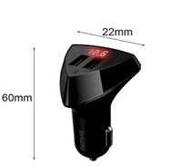 REMAX RCC 208 Aliens 2 USB Car Charger With LED Voltage For iPhone iPad Samsung 3.4A Tajori
