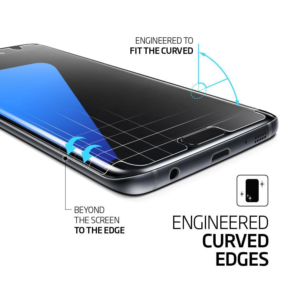 the latest 62a09 4b21e Spigen Original Galaxy S7 Edge Screen Protector Curved Crystal HD