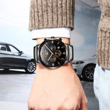 Sports Black Waterproof Original Luxury Stainless Steel Watch Tajori