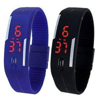 Super Fit Pack of 2 LED Sports Watches Tajori