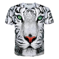 Tiger face graphical round neck half sleeves t-shirt for men Tajori