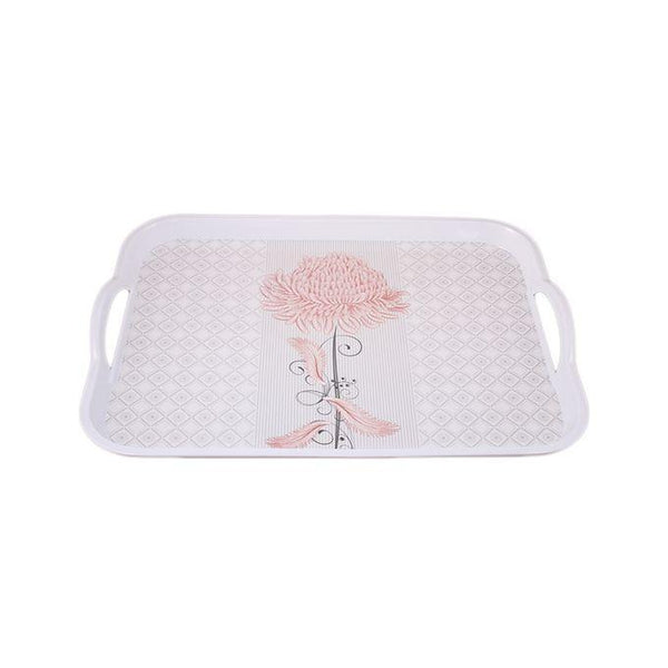 Touch Melamine Rectangular Serving Tray With Handles Tajori